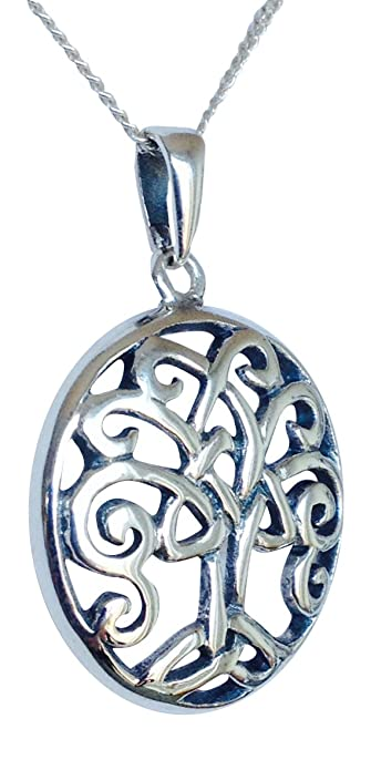[Sponsored]Sterling Silver Celtic Tree of Life Brooch - BRANDED GIFT BOX UCO679XgT