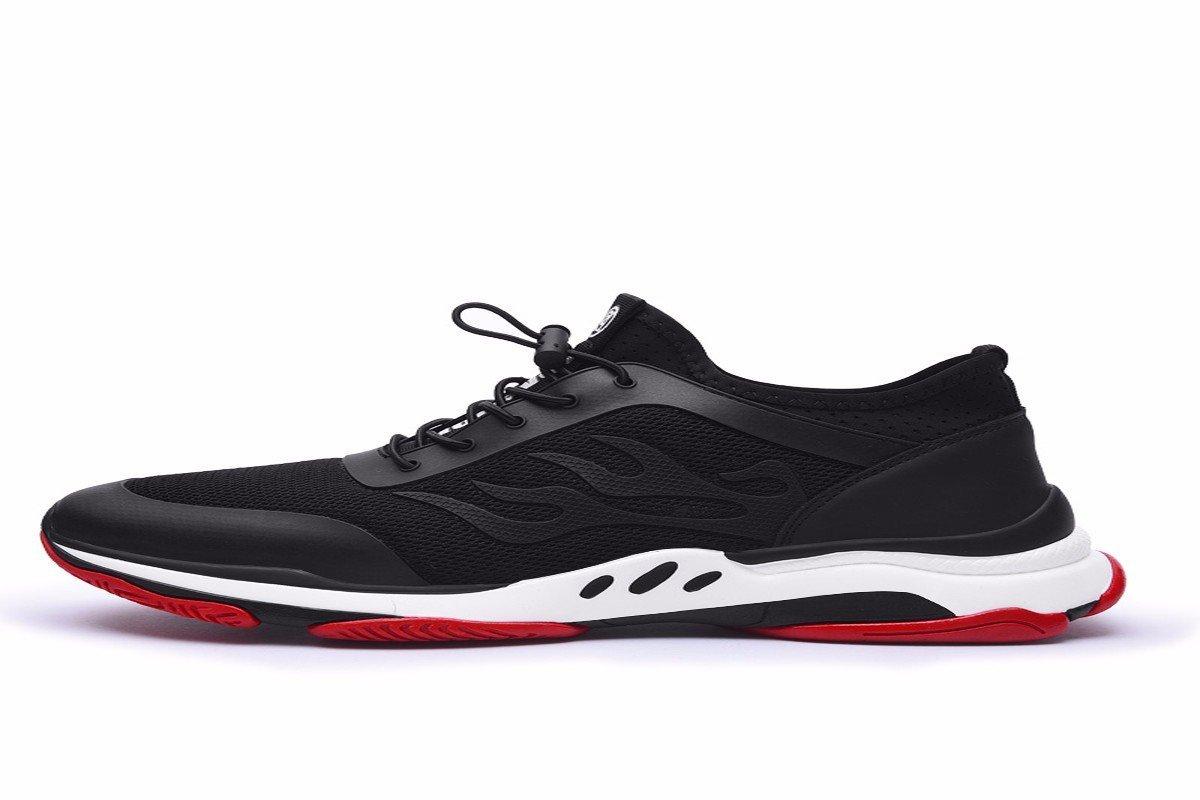 KMJBS-Deportes De Verano Zapatos Zapatos De Los Deportes Correr Redes Y Zapatos De Los Hombres.Cuarenta Y Cuatro Black Forty-four|black