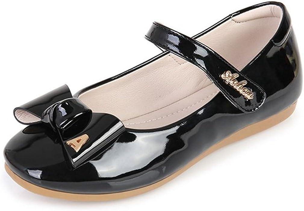 CYBLING Little Big Girls Ballet Ballerina Flats Princess Shoes Flower Girl Dress Shoes