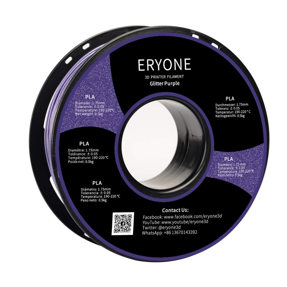 //Spool Blue 2.2LBS ERYONE Sparkly Galaxy Glitter PLA 3D Printer Filament 1.75mm 1kg