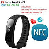 Huawei Honor Band 3 Smart Band Real-time Heart Rate Monitoring 50 meters Waterproof for Swimming Fitness Tracker for Android iOS