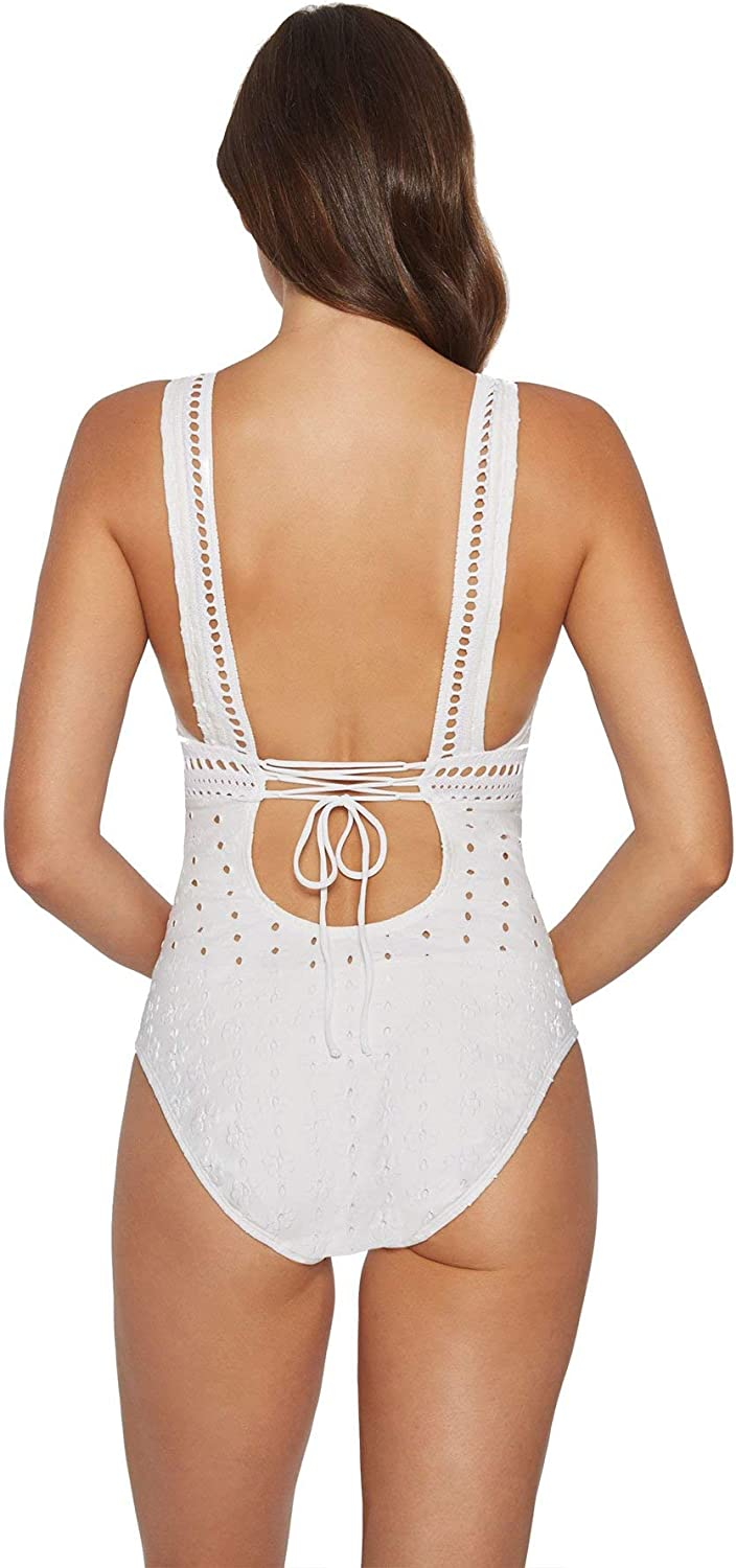 Robin Piccone Womens Clarissa Over The Should One Piece Swimsuit