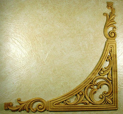 EMBOSSED WOOD APPLIQUE / ONLAY # 019 17 3/8 X 17 3/8