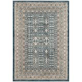 Safavieh Sofia Collection SOF376C Vintage Blue and Beige Distressed Area Rug (4′ x 5'7″) For Sale