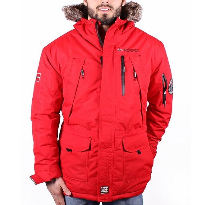 Geographical Norway - Abrigo - Blusa - para Hombre Rojo XXL: Amazon.es: Ropa y accesorios