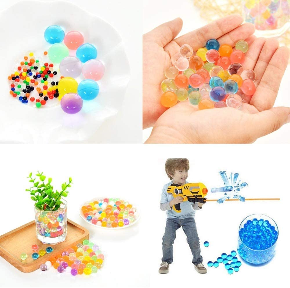 25000 Vase Filler Clear Water Beads for Flowers Center Table Decor,Kids Tactile Sensory Toys,Wedding Centerpieces and Home Decoration