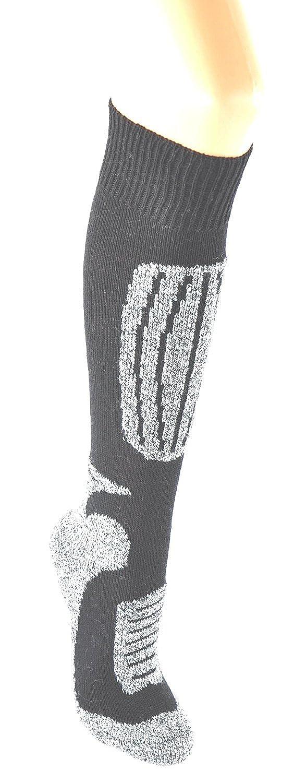 PistenSauser®/ 4 Paar warme Skisocken / Funktionsstrümpfe mit Schafwolle die weder kratzen noch verfilzen