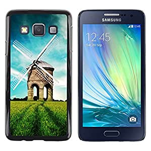TopCaseStore / la caja del caucho duro de la cubierta de protección de la piel - Nature Beautiful Forrest Green 39 - Samsung Galaxy A3 SM-A300