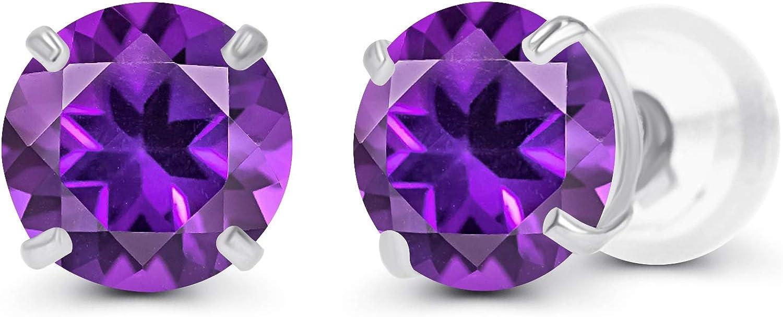 June Birthstone 3mm Round 14K Gemstone Studs Screw Back Earrings Girl/'s Gift Idea 14K Yellow Gold Imitation Alexandrite Earrings