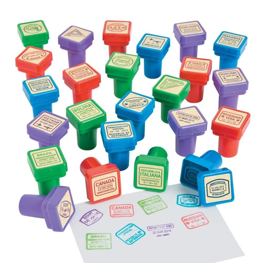 Set of 24 - Passport Stampers