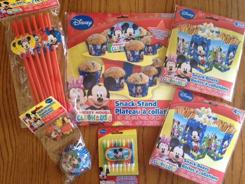 Disney Jr. Micky Mouse Clubhouse Ultimate Party Supply Pack - Featuring Micky Mouse, Minnie Mouse, Daisy Duck, Donald Duck & Goofy!!!