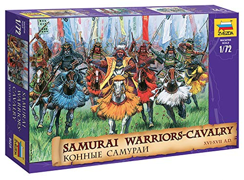 (Zvezda 8025 - Samurai Warriors - Cavalry - Plastic Model Soldiers Kit Scale 1/72 1