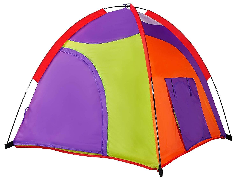 "Alvantor Kids Tent Indoor Children Play Toy Toddler Pop up Outdoor Games Colourful Curvy Patent, 48"" 48"" 42"""