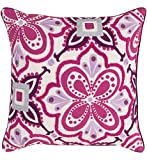 Surya Kate Spain KS010-2020D Down Fill Pillow, 20 by 20-Inch, Magenta