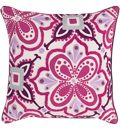 Surya Kate Spain KS010-2020D Down Fill Pillow, 20 by 20-Inch, Magenta by Surya