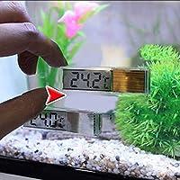 Hihey Medidor de termómetro para acuarios LCD Medición