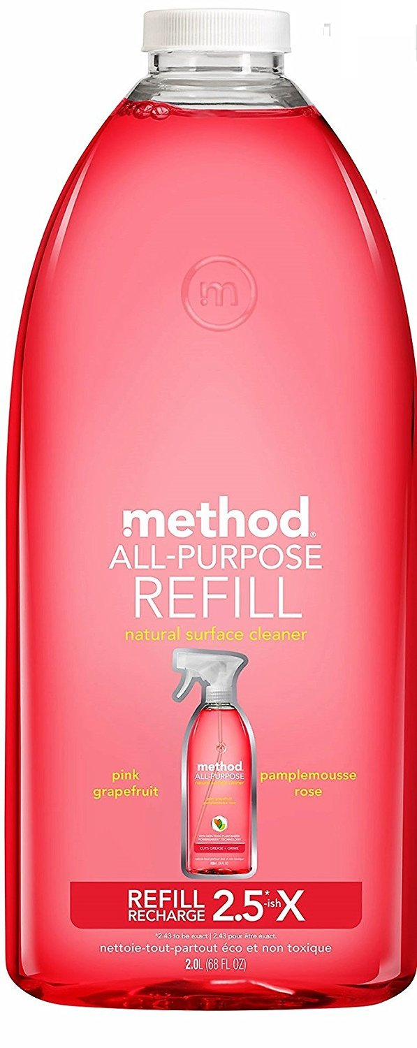 Method All Purpose Cleaning Spray 68 Fl Oz, Pink Grapefruit, Refill Bottle by Method