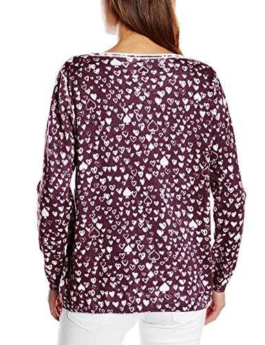 Gerry Weber Edition 449 - Suéter Mujer Mehrfarbig (Purple/White 6098)