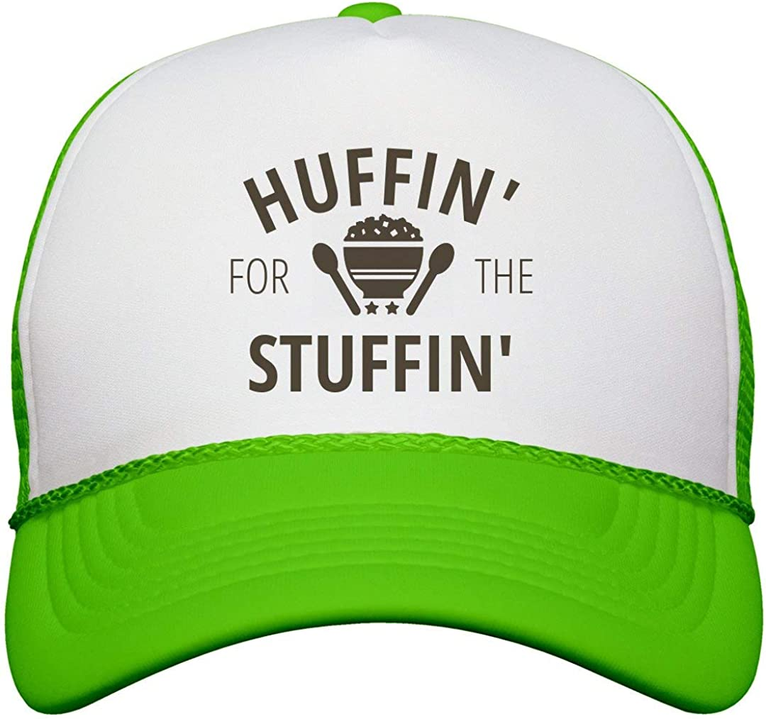 Neon Snapback Trucker Hat Customized Girl Huffing at The Turkey Trot