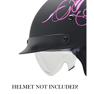 Vega Helmets Unisex-Adult Warrior Half Helmet Replacement Drop (Clear Shield, 1 pack): Automotive