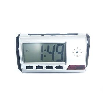 Cámara oculta reloj despertador videocámara de alta definición DVR detección de movimiento Grabadora de vídeo (TF tarjeta no incluida): Amazon.es: Hogar