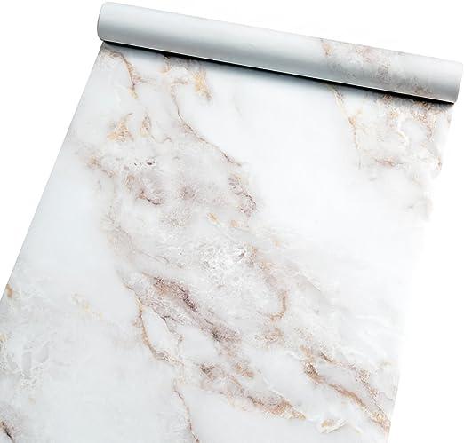 Amazon Com Marble Self Adhesive Paper Granite 35 4 X78 7 White
