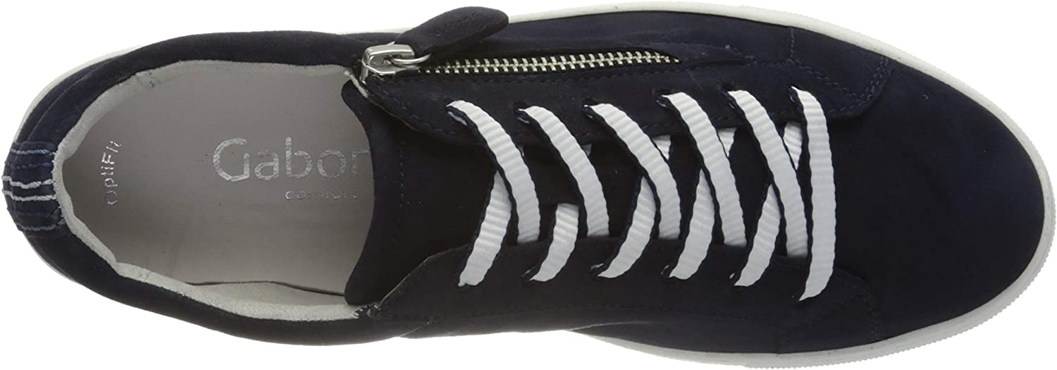 Gabor Women's Low-Top Sneakers Blue Bluette Bluette Black 36