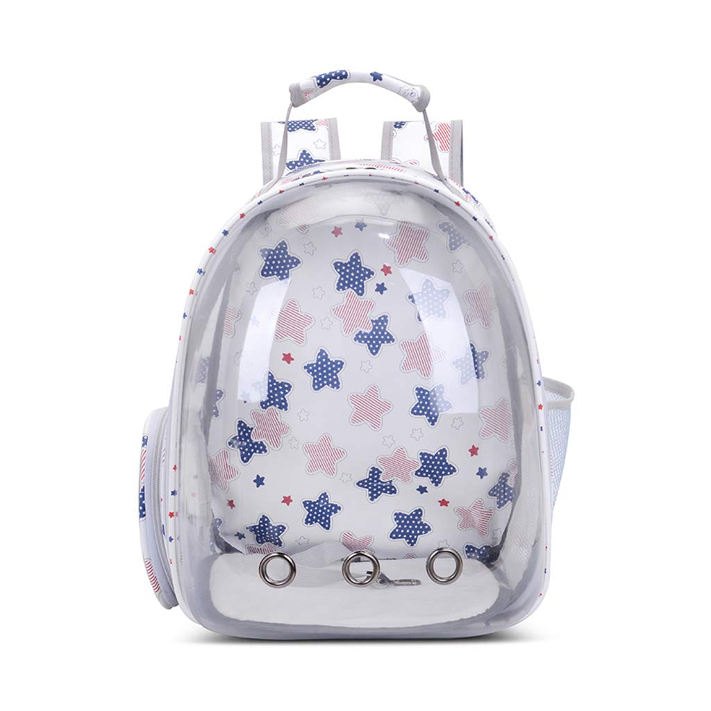 ForHe Pet Carrier Backpack, Portable Pet Puppy Transparent Space Capsule Breathable Backpack, Cute Printing, 3 Colors Optional by ForHe