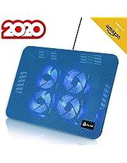 KLIM™ Serenity - Base de refrigeración para portátiles + de 11 a 15,6 Pulgadas portátiles pequeños y medianos + Estable y Resistente Base de Metal + Nueva 2020 (Azul)