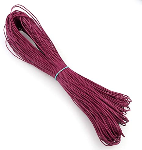 PGZXLL 70M 21 Colores 1mm Ancho Hilo de Cuero Encerado Cera de Algodón Cuerda de Cordón DIY Mujeres Pulsera Collar de Accesorios de Ropa: Amazon.es: Deportes y aire libre