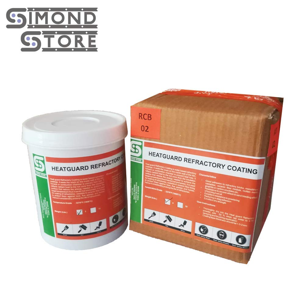 for Coating of Bricks 5lb Heat Guard Refractory Coating Upto 3270F