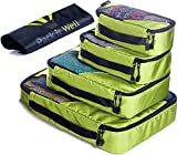 ✅ Packing Cubes Set - 4 Travel Luggage Organizer with 1 Laundry Bag, Black (Olive Green)