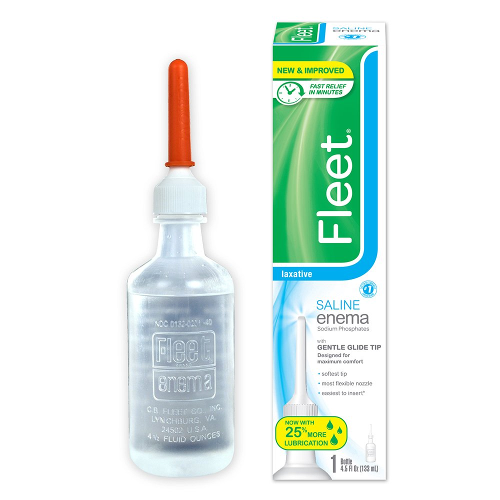 Fleet Laxative Saline Enema | 4.5 oz | Pack of 48 | Fast Constipation Relief in Minutes by Fleet
