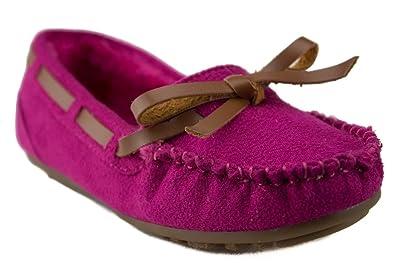 c1ba0e83936d Happy Kids Girls KM-1 Warm Fur Lined Winter Moccasin Flats Shoes