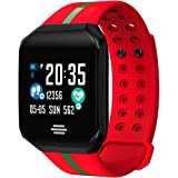 OOLIFENG Activity Tracker Fitness Watch, Sport Smartwatch, Blood Pressure & Heart Rate Monitor, Outdoor IP67 Waterproof For Iphone Android
