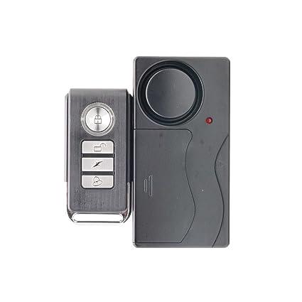 Mando a distancia inalámbrico alarma de vibración casa seguridad puerta ventana coche sensor detector puerta campanas