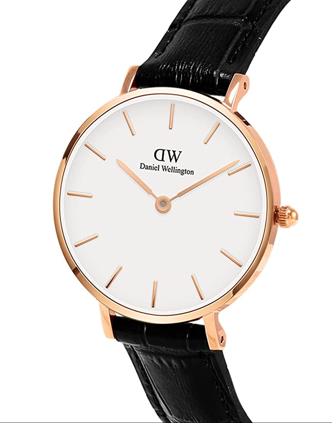 Daniel Wellington Reloj Analógico para Mujer de Cuarzo con Correa en Cuero DW00100229: Amazon.es: Relojes