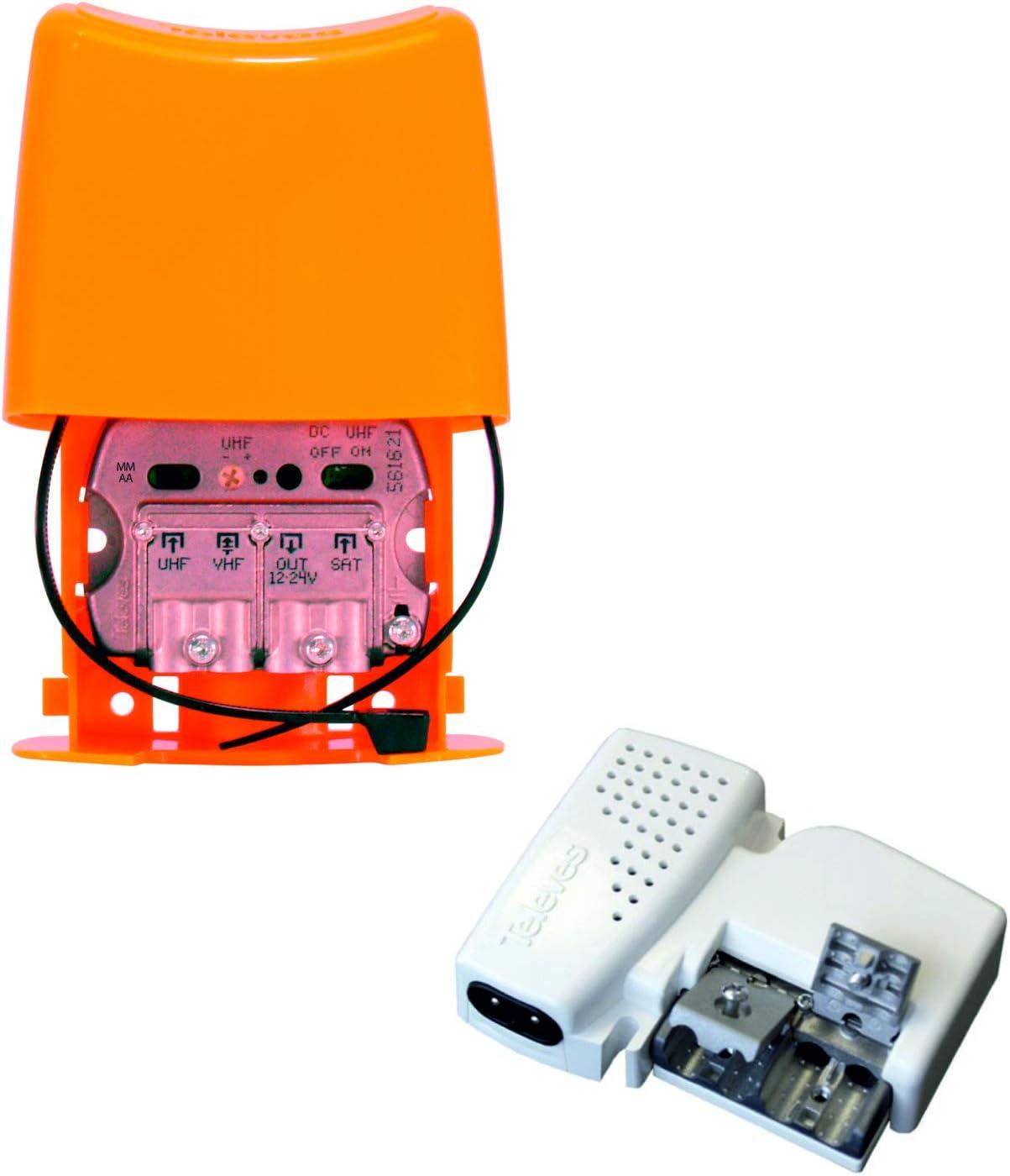 TECNOVOZ Kit Amplificador DE MASTIL 30DB + Fuente DE ...