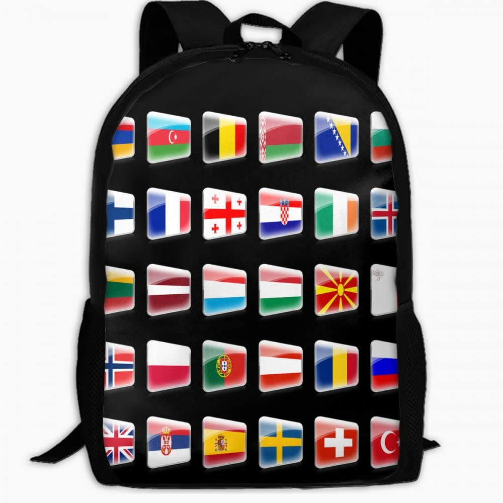 Child School Bag Map of European Countries Outdoor Travel Backpack Students Backpacks Girls Book Bags Unisex Shoulder Daypack