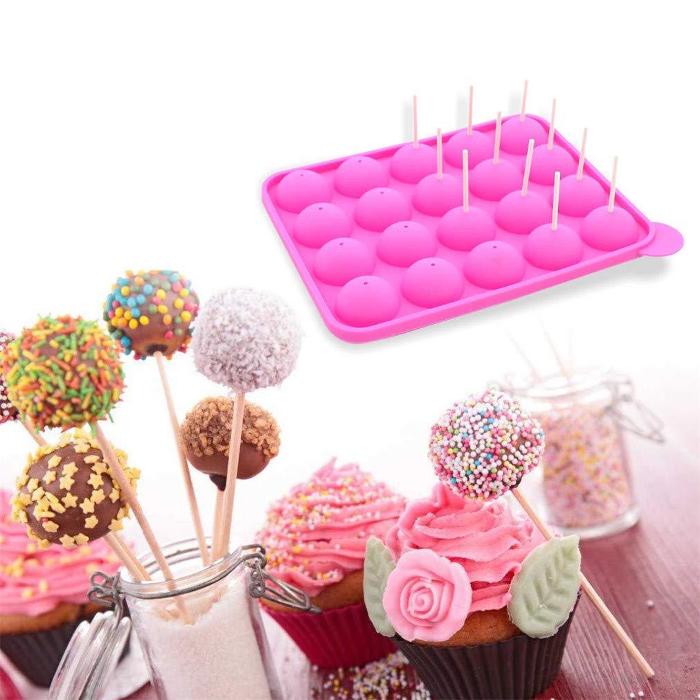 Amazon.com: MIRUIKE Molde para hornear en forma de bola de cavidad de silicona 20-Eco-Friendly, Muffins Cupcakes Juego de utensilios de cocina, ...