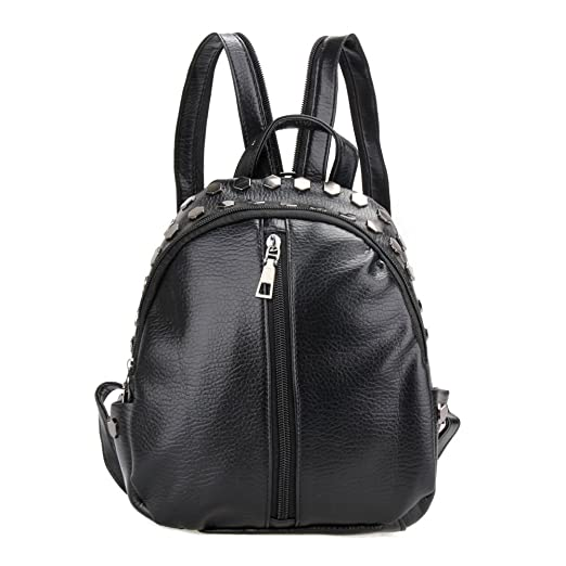 f2886d0c0c Image Unavailable. Image not available for. Color  Jocestyle Women PU  Leather Rivet Backpack Mini Shoulders Bag Girls Daypack