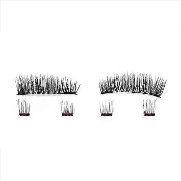 64c2deee46e Amazon.com: 6Pcs Magnetic Eyelashes Invisible Magnetic Lashes Mink Eyelashes  With Tweezers 3D Mink Lashes Thick Full Strip False Eyelashes,ks01: Beauty