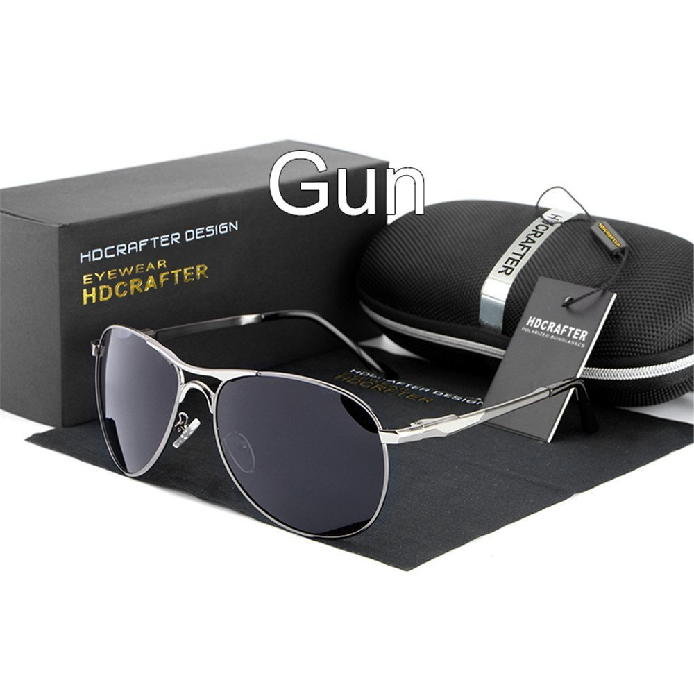 lnabni Classic Full verspiegelte Pilotenbrille Herren Polarized Outdoor Sports Sonnenbrille Double Farbe Brille Driving Eyewear UV 400