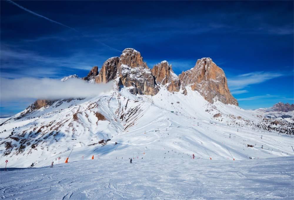 人気が高い  AOFOTO 7X5フィート 自然な雪の景色 背景 スキー 7X5フィート 新年 リゾート ドロマイト イタリア スタジオ 風景 スポットビニールプリント 写真 背景 旅行 バケーション 新年 クリスマス 写真家 スタジオ 小道具 ビデオドレープ B07KMCJZBR, 激安な:fd9a2b29 --- ballyshannonshow.com