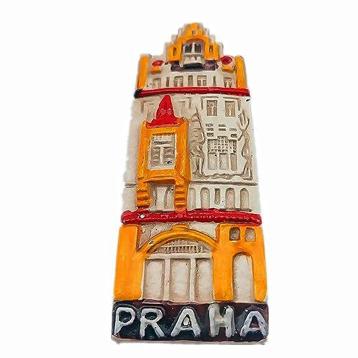 Hqiyaols Souvenir Praha Praga República Checa 3D Refrigerador Imán ...