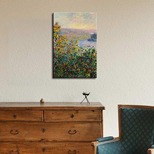 Claude_Monet Flower Beds at Vetheuil Impressionist Art