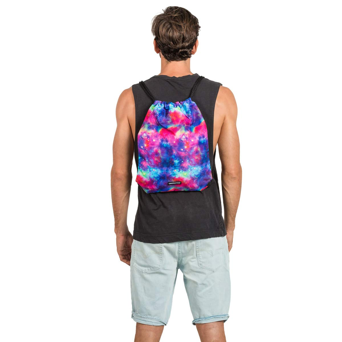 Tie-Dye Sloth Rave /& Travel Accessories Gym Bag Sports Rucksack for Men /& Women Vibedration Drawstring Backpack Festival Fashion Casual Daypack