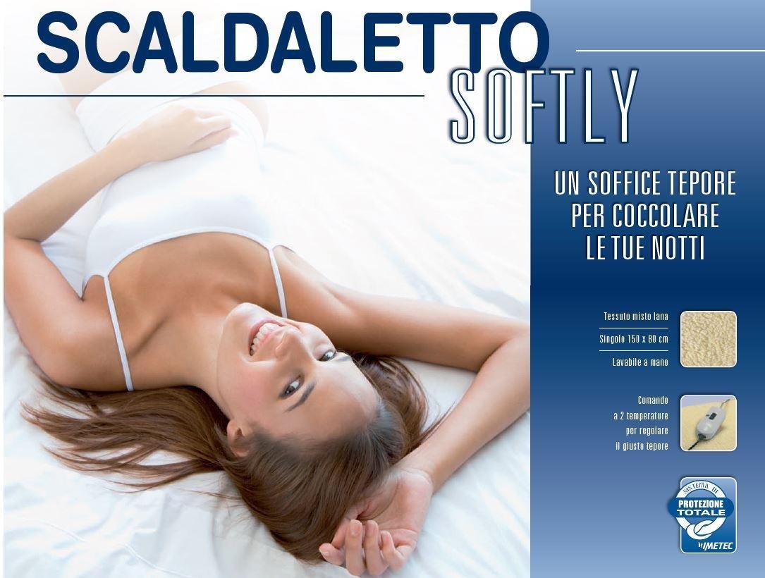 Imetec Scaldaletto Softly 50 Lana Singolo.Imetec Scaldaletto Softly 50 Lana Comando A 2 Temperature Per