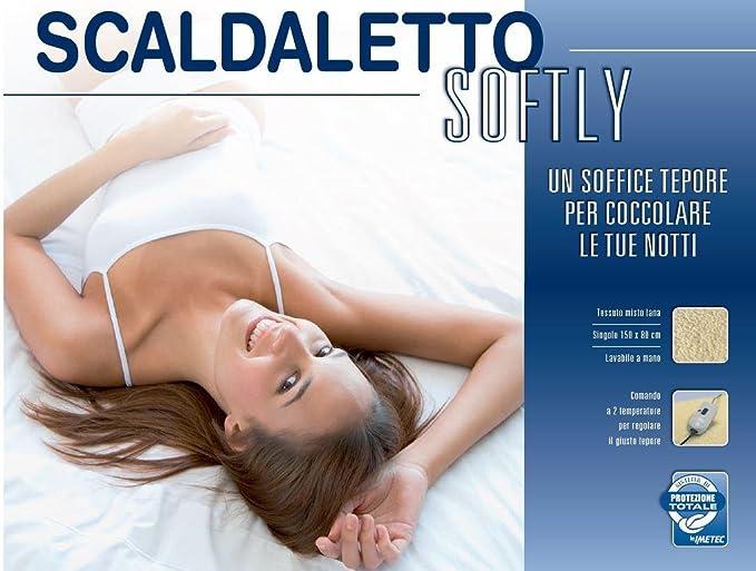 Imetec Scaldaletto Softly 50 Lana Singolo.Imetec Scaldaletto Softly 50 Lana Comando A 2 Temperature Per Letto Singolo