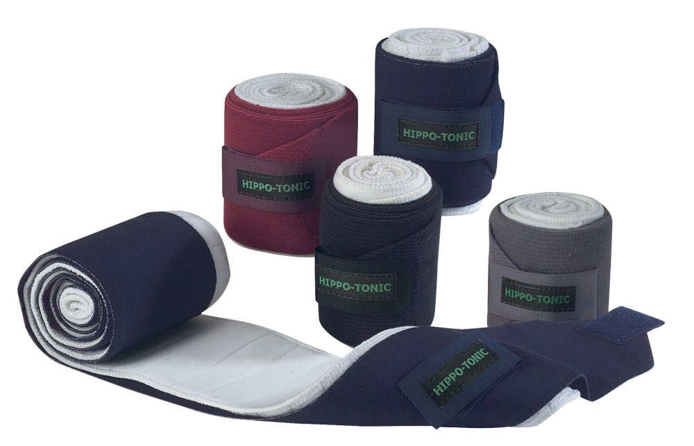 HIPPO-TONIC Elastic exercise bandages with bandage pads - - Navy Blue